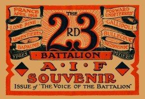 World War 1 23 battalion Insignia